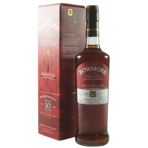 Slika Bowmore 10 Years Old Limithed Edition  inspired by THE DEVIL'S CASKS SERIES 46% Vol. 1l + Gb
