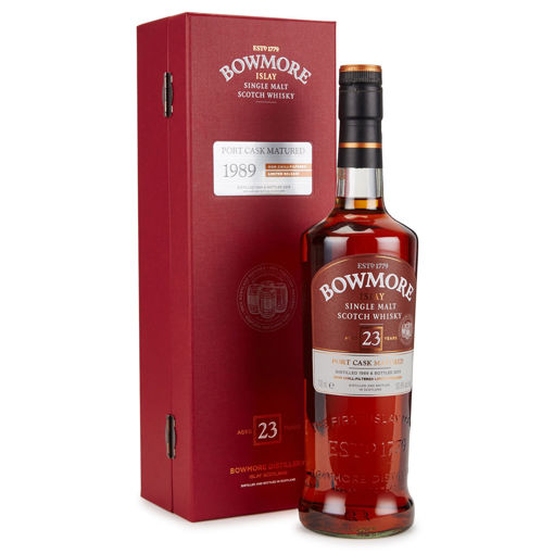 Slika Bowmore 23 Years Old PORT CASK MATURED Limithed Release 1989 50,8% Vol. 0,7l in Giftbox