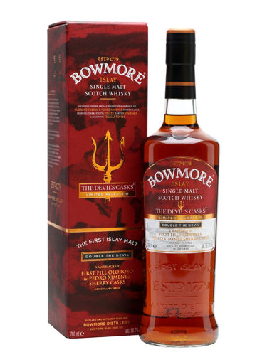 Slika Bowmore THE DEVIL'S CASKS Double The Devil Liwithed Release III 56,7% Vol. 0,7l + GB