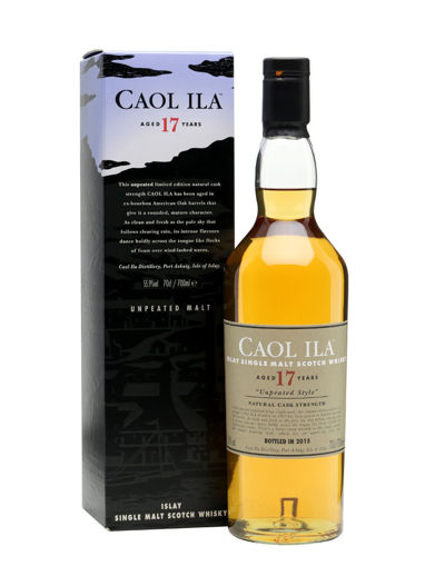Slika Caol Ila 17 Years Old UNPEATED STYLE Natural Cask Strength 2015 55,9% Vol. 0,7l in Giftbox