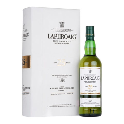 Slika Laphroaig 25 Years Old THE BESSIE WILLIAMSON STORY Edition 2019 43% Vol. 0,7l in Giftbox