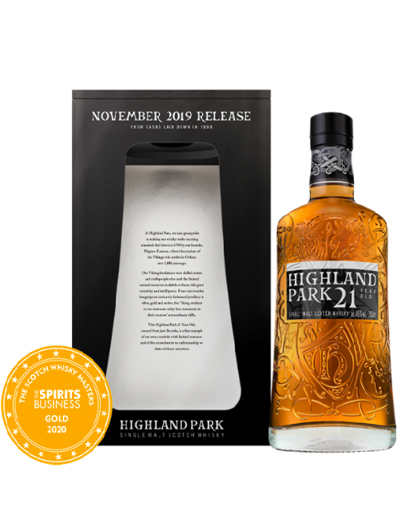 Slika Highland Park 21 Years Old Single Malt Scotch Whisky Release 2019 46% Vol. 0,7l in Giftbox