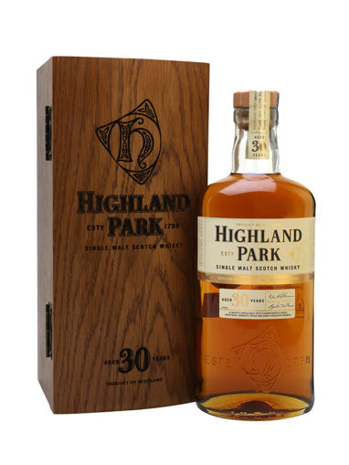 Slika Highland Park 30 Years Old Single Malt Scotch Whisky 45,7% Vol. 0,7l in Wooden case