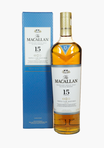 Slika The Macallan 15 Years Old TRIPLE CASK MATURED Highland Single Malt Scotch Whisky 43% Vol. 0,7l in Giftbox