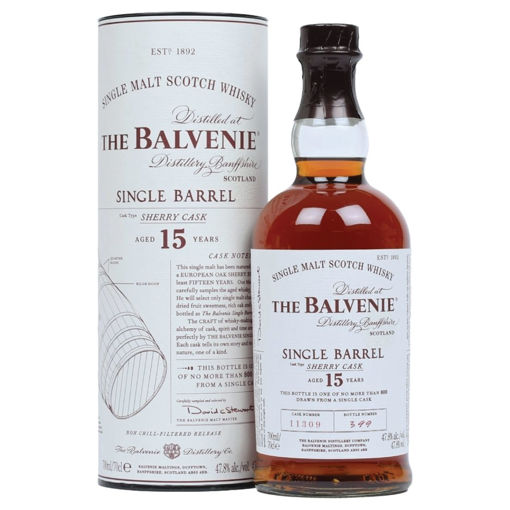 Slika The Balvenie 15 Years Old Single Barrel Sherry Cask 47,8% Vol. 0,7l in Giftbox