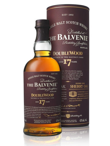 Slika The Balvenie 17 Years Old Double Wood 43% Vol. 0,7l in Giftbox