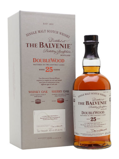 Slika The Balvenie 25 Years Old Double Wood 43% Vol. 0,7l in Giftbox