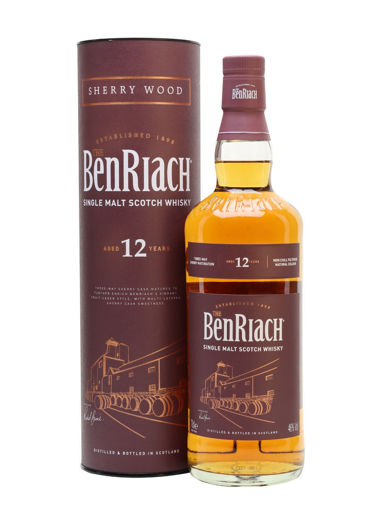 Slika The BenRiach 12 Years Old Sherry Wood Matured 46% Vol. 0,7l in Giftbox