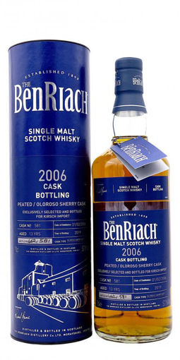 Slika The BenRiach 13 Years Old CASK BOTTLING Peated/Oloroso Sherry Cask Finish 2006 57,1% Vol. 0,7l in Giftbox