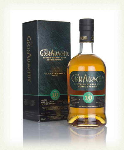 Slika The GlenAllachie 10 Years Old CASK STRENGTH Batch 58,2% Vol. 0,7l in Giftbox