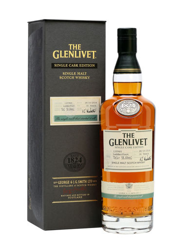 Slika The Glenlivet 16 Years Old SINGLE CASK EDITION Ladderfoot 2014 58,6% Vol. 0,7l in Giftbox