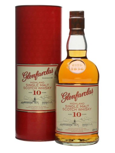 Slika Glenfarclas 10 Years Old Highland Single Malt Scotch Whisky 40% Vol. 0,7l in Giftbox