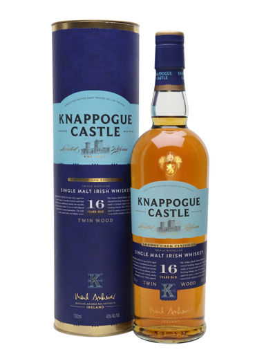 Slika Knappogue Castle 16 Years Old TWIN WOOD Single Malt Irish Whiskey SHERRY CASK FINISHED 43% Vol. 0,7l in Giftbox