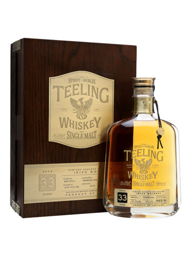 Slika Teeling Whiskey 33 Years Old VINTAGE RESERVE COLLECTION Single Malt Irish Whiskey 42,9% Vol. 0,7l in Wooden case