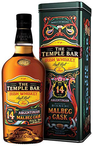Slika The Temple Bar 14 Years Old Single Malt Irish Whiskey Malbec Cask 43% Vol. 0,7l in Giftbox