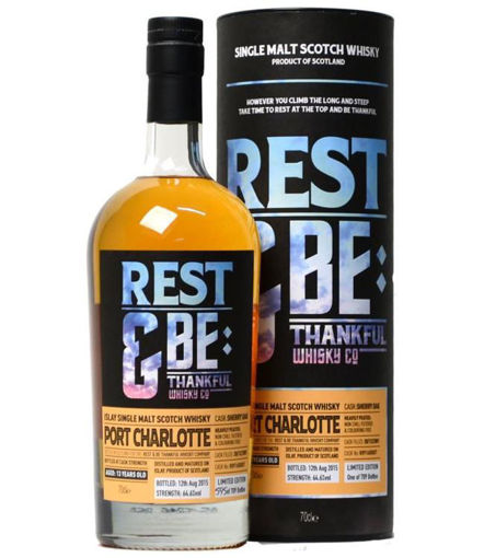 Slika Rest & Be Thankful Port Charlotte 13 Years Old Sherry Cask Limithed Edition 64,6% Vol. 0,7l in Giftbox