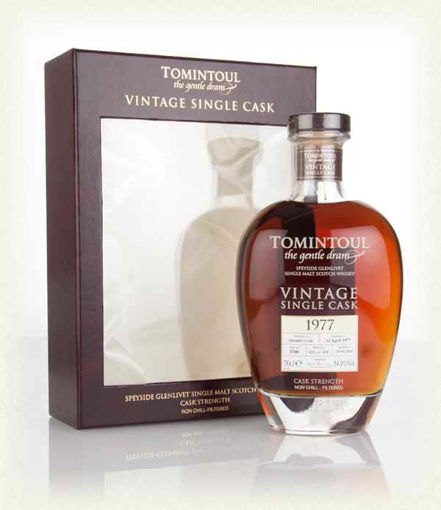 Slika Tomintoul VINTAGE Single Sherry Cask 1977 54,9% Vol. 0,7l in Giftbox