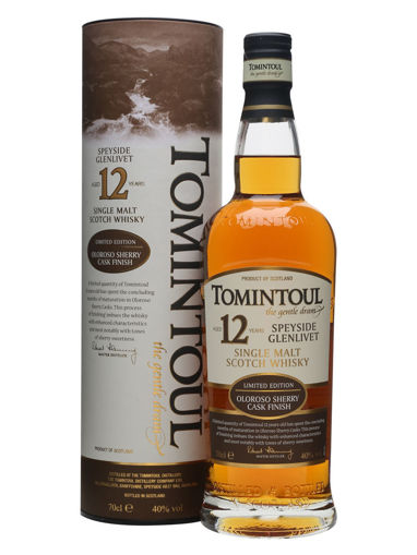 Slika Tomintoul 12 Years Old Oloroso Sherry Cask 40% Vol. 0,7l in Giftbox