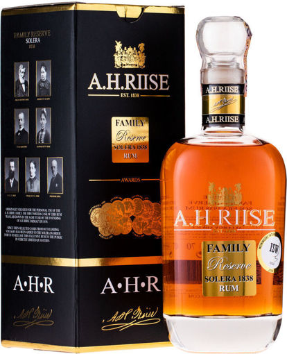 Slika A.H. Riise FAMILY RESERVE Solera 1838 Rum - Old Edition 42% Vol. 0,7l + GB